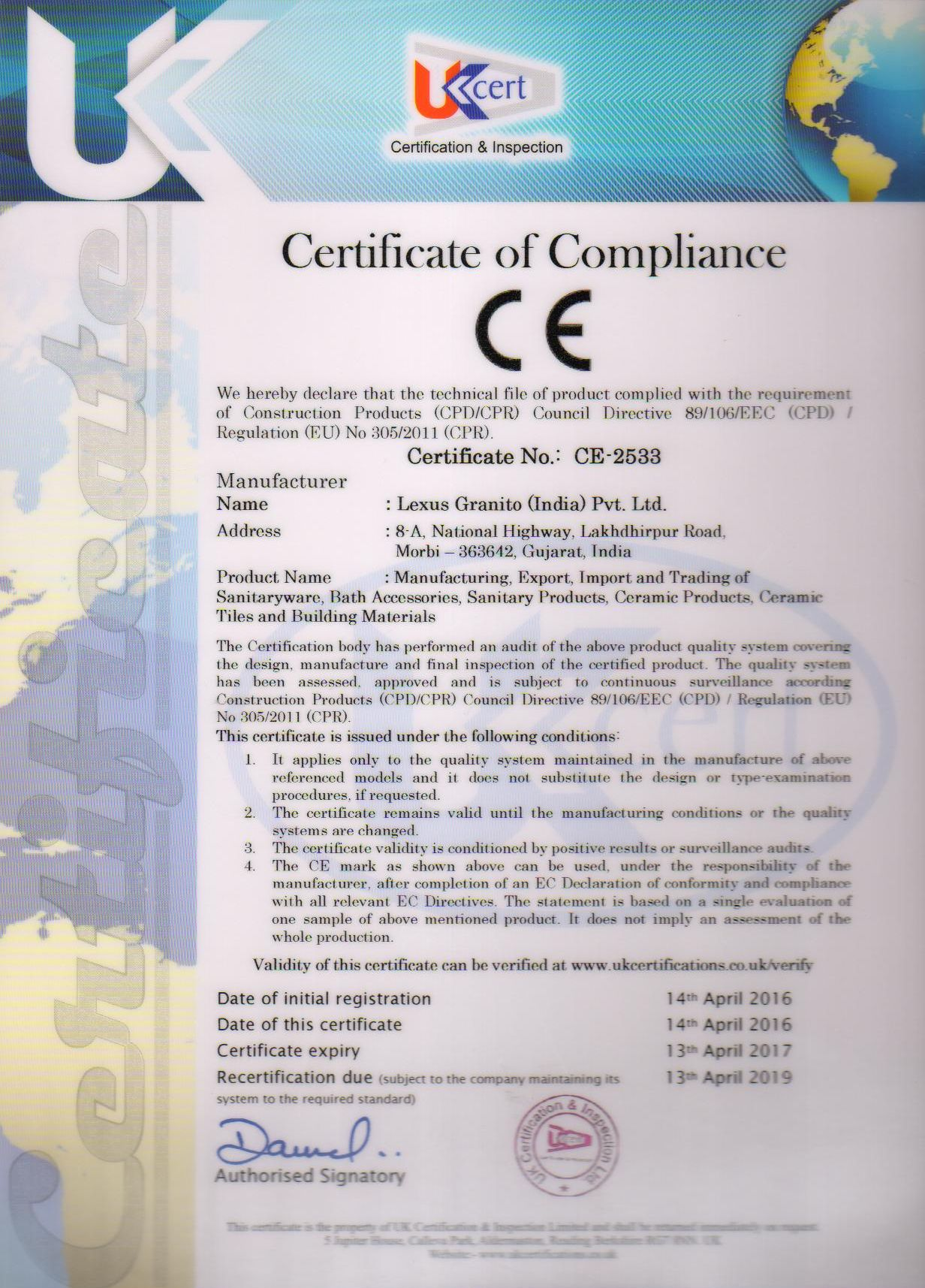 Certifik 225 Ty Dubai Trade Ltd S R O
