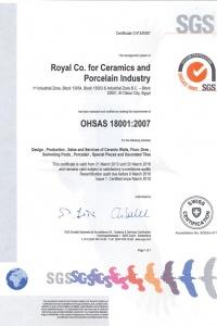ISO 18001 ROYAL