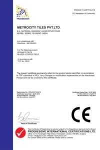 Certifikát Metro CE 1