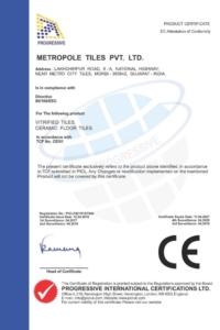 Certifikát Metro CE 2