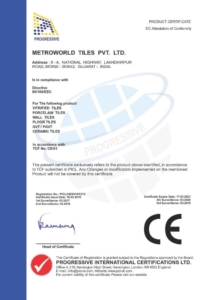 Certifikát Metro CE 3
