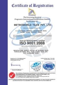 Certifikát Metro ISO9001